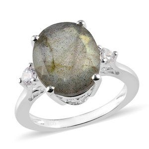 Malagasy Labradorite  Sterling Silver Ring Size 7